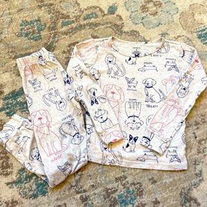Carter's Puppy Long Sleeve & Pant PJ Set Size 6